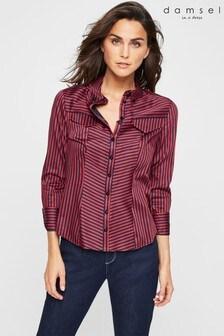 חולצה עם פסים של Damsel In A Dress דגם Caleigh בנייבי