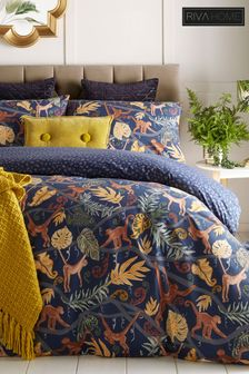 Monkey Forest Duvet Cover and Pillowcase Set by Riva Home