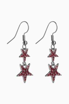 Pavé Star Drop Earrings