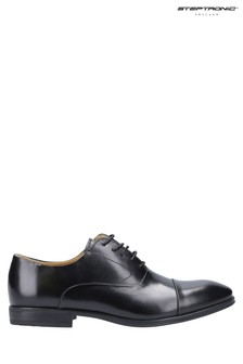 Steptronic Black Factor Oxford Lace-Up Shoes