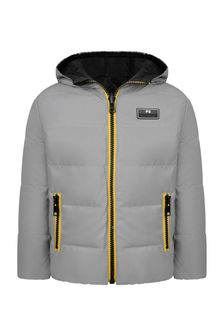 Boys Silver Reversible Padded Jacket