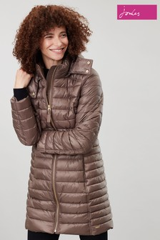 Joules Brown Canterbury Long Padded Coat
