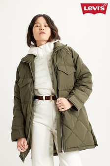 Levi's® Green Quilted Padded Jacket