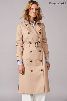 Phase Eight Neutral Lise Long Trench Coat