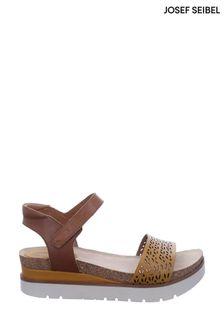Josef Seibel Yellow Clea Platform Wedge Sandals