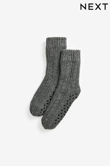 Borg Lined Slipper Socks