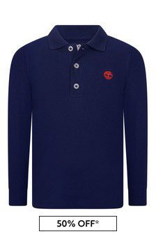 Timberland Boys Navy Organic Cotton Pique Poloshirt