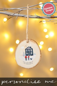Personalised First Home Bauble by Oakdene