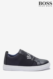 BOSS Navy Trainers
