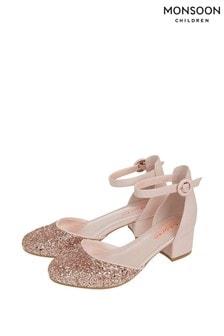Monsoon Pink Storm Priya Glitter Two Part Shoes