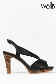 Wallis Starling Black Vamp Platform Sandals