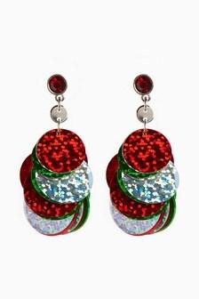 Sequin Drop Earrings