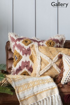Gallery Direct Pink/Ochre Geo Tufted Cushion