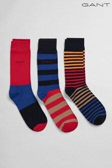 GANT Striped 3 Pack Socks Gift Box