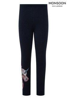 Monsoon Navy Trixy Unicorn Leggings