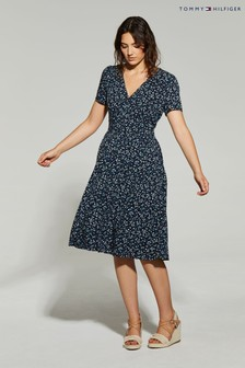 Tommy Hilfiger Blue Raya Tea Dress