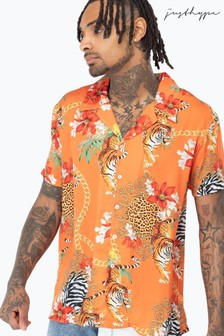 Hype. Orange Tiger Chains Shirt
