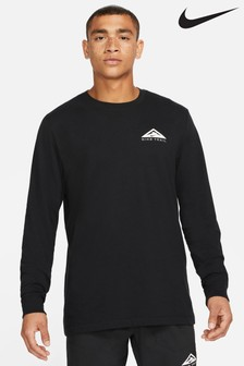 Nike DriFIT Black Long Sleeve Trail Running T-Shirt