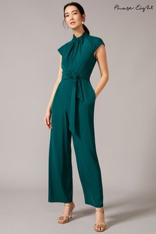 Phase Eight Green Bree Twist Jumpsuit