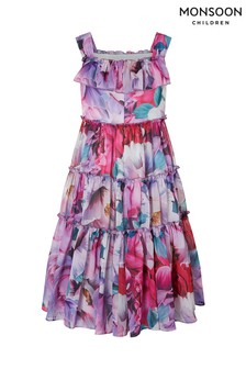 Monsoon Natural Tammy Floral Tiered Maxi Dress