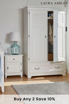 Devon White 2 Door 1 Drawer Louvred Wardrobe by Laura Ashley