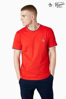 Original Penguin® Red Short Sleeve Sticker Pete Ringer T-Shirt