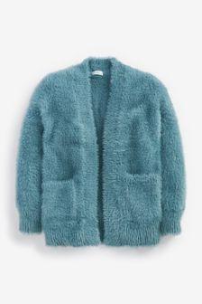 Fluffy Long Cardigan (3-16yrs)