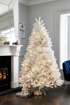 6Ft Lit White Christmas Tree