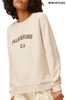 Whistles Oatmeal Palm Springs Logo Sweatshirt