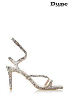 Dune London Mighteys Metallic Reptile Synthetic Square Tow Strappy Sandals