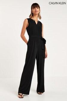 Calvin Klein Black Sleeveless Jumpsuit