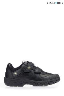 Start-Rite Tarantula Black Leather Shoes