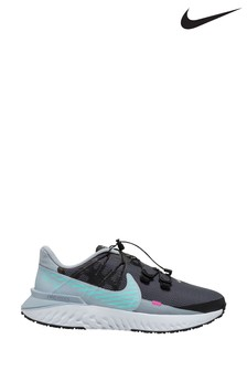 Nike Run Navy/Teal Legend React 3 Shield Trainers