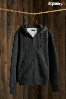 Superdry Charcoal Zip Hoody