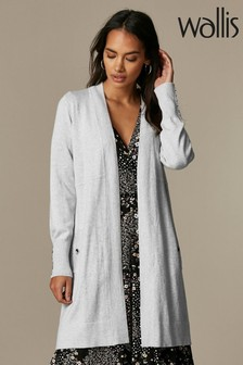 Wallis Petite Grey Wool Mix Cardigan
