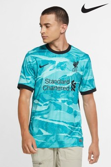 Nike Turquoise Liverpool Away 20/21 Football Shirt