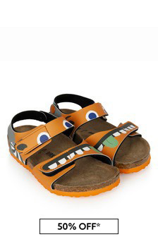 Birkenstock Boys Orange Palu Sandals