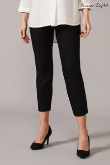 Phase Eight Black Louise Crop Skinny Trousers