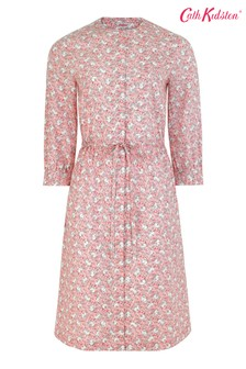 Cath Kidston® Pink Jumping Bunnies Drawcord Shirt Dress