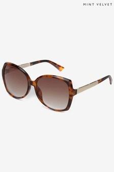 Mint Velvet Brown Santorini Oversized Sunglasses