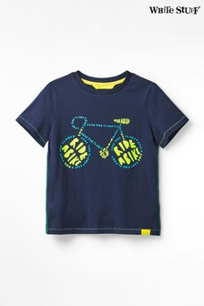 White Stuff Blue Kids Ride A Bike Jersey T-Shirt