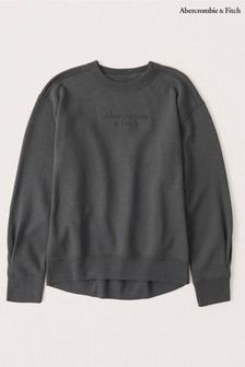 Abercrombie & Fitch Puff Sleeve Crew Sweat Top