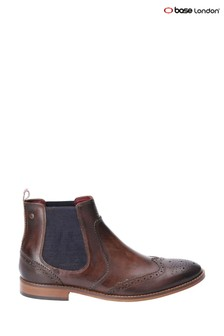 Base London® Brown Gaffer Washed Pull-On Chelsea Boots