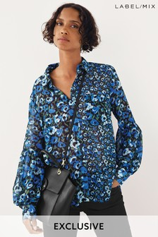 Next/Mix Floral Print Shirt