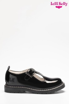 Lelli Kelly Black Patent T-Bar Shoes
