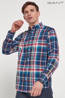 GANT Tech Prep Regular Oxford Heritage Plaid Shirt
