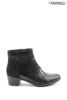 Heavenly Feet Imogen Black Ankle Boots