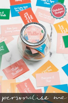 Personalised Family Activity Jar by Oakdene