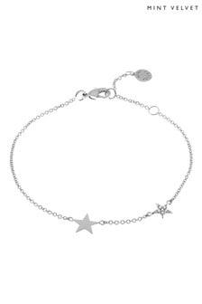 Mint Velvet Natural Silver Double Star Bracelet