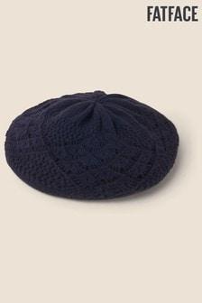 FatFace Blue Crochet Beret